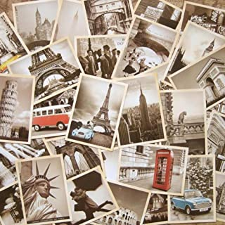 Wowlife One Set Retro Old Travel Postcards for Worth Collecting (Style A)