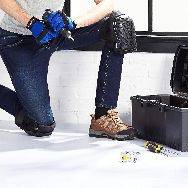 Noir Rembourrage en mousse ultra r/ésistante Coussin en gel confortable Clips de fixation faciles /à ajuster 6 paires Basics Genouill/ères professionnelles