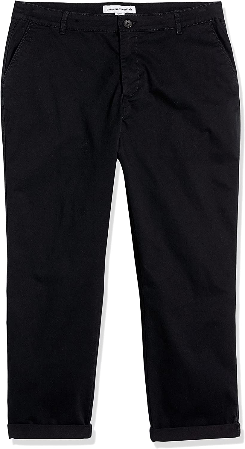 Amazon Essentials Women's Cropped Girlfriend Chino Pant (Available in Plus Size)