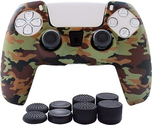 Hikfly Coque en silicone pour manette PS5 DualSense - Housse antidérapante pour manette PlayStation 5 - 1 x Skin avec...