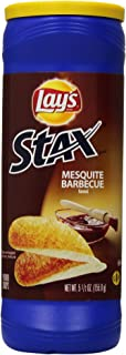 Lay's Stax Potato Crisps, Mesquite Barbecue, 5.5 Ounce (Pack of 11)