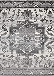Luxe Weavers Farmhouse Abstract Gray 5x7 Area Rug