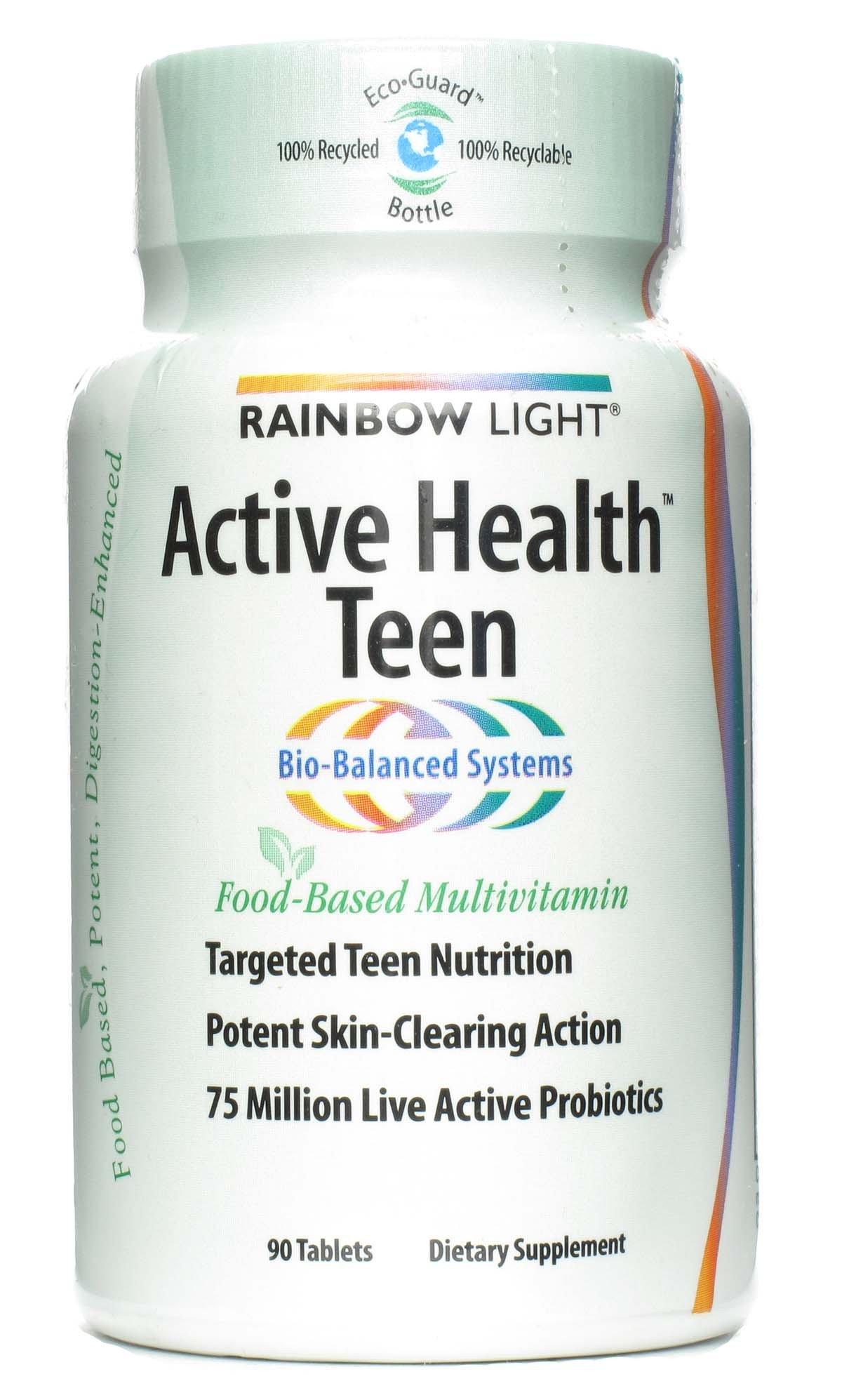 Rainbow Light, Multivitamin Active Health Teen, 90 Tablets