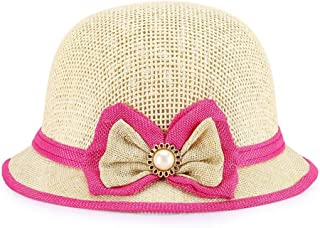 ZiWen Lu New Children's Breathable Small hat Sunshade Sun Bonnet Lively Cute Version (Color : Brown, Size : 54CM)