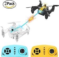 Mini Battle Drone, AgoHike Batalla Plegable Quadcopter  2.4G 4 canales 6-Axis Gyro 3D Voltea Control Remoto Quadcopter RTF con Modo sin Cabeza, una Clave de Inicio / Aterrizaje (Un par)