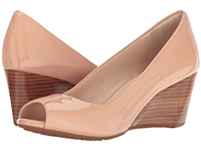 Cole Haan Sadie Open Toe Wedge 65mm (Nude Patent) Women