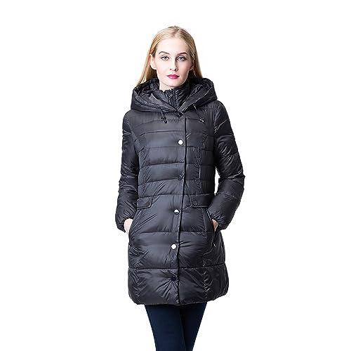 JOLLYCHIC Women s Winter Light Weight Hooded Thicken Warm Down Coat Jacket  (12 8c77d45c4