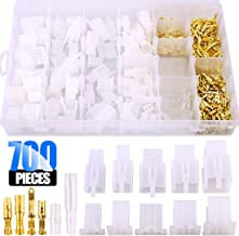 Glarks 700Pcs 2 3 4 6 9 Pin Plug Housing Pin Header Crimp Electrical Wire Terminals Connector and 30 Sets 4mm Car Motorcycle Bullet Terminal Connector Assortment Kit for Motorcycle, Bike, Car, Boats