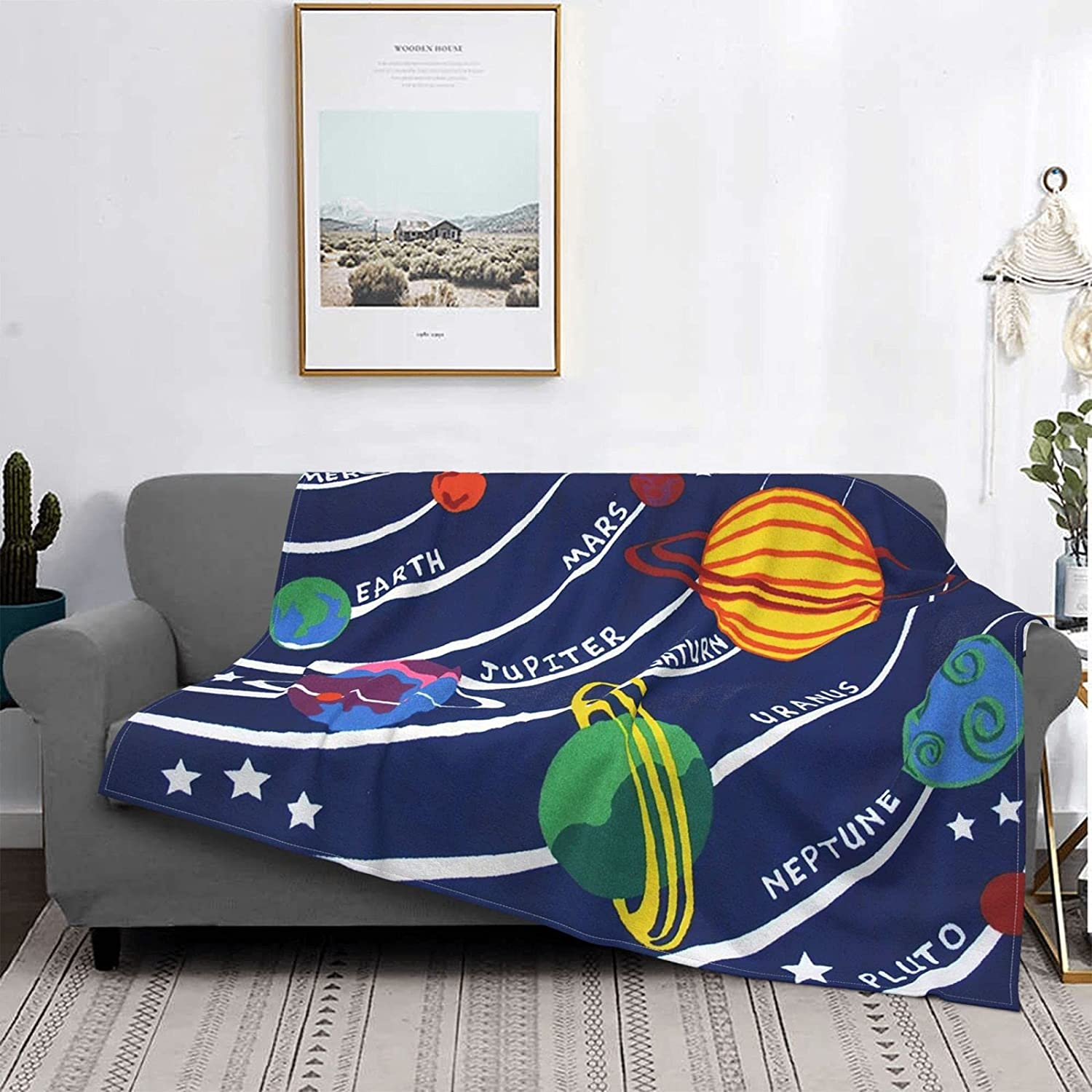 Solar Systems Sales results No. 1 Throw Blankets Lightweight wholesale Flannel Warm B Camping