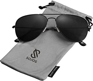 b714cf38b SOJOS Classic Aviator Polarized Sunglasses Mirrored UV400 Lens SJ1054