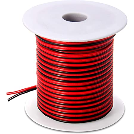 Light Pink Color Stranded Copper Wire Made in USA 16-Gauge 100-Feet Bulk Spool