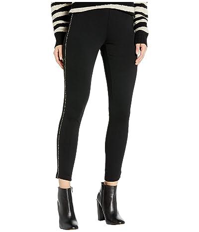 kensie Ponte Leggings with Sparkle Detail KSDK1334 (Black) Women