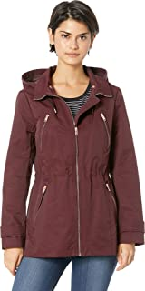 Womens Raincoat Anorak w/Detachable Hood