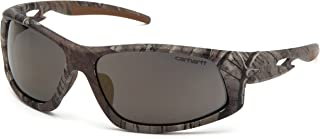 Carhartt Ironside Safety Glasses - Polybag Packaging, Realtree Xtra Frame, Antique Mirror Anti-Fog Lens