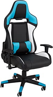 Commander - Racing-Style Gaming Chair by SkyLab Performance Seating F.C, Blue/White/Black