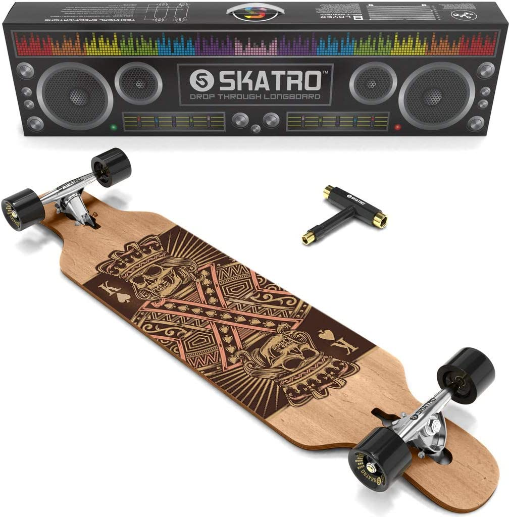 Skatro Drop Through Longboard Skateboard Includes T-T Freeride 推奨 - 数量は多