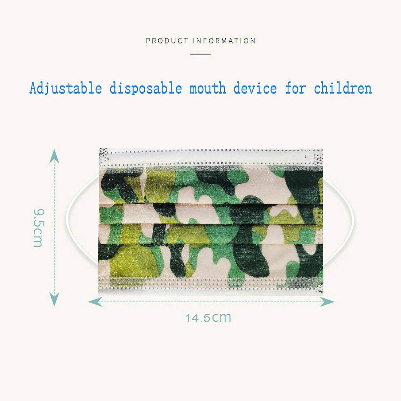 Topgrowth 50 Pi/èces Jetable Bandanas de Dentelle Enfant Non-tiss/é 3 Plis Face Scarf Faciale Impression de mode Bandeaux pour Gar/çon Fille Respirant Confortable