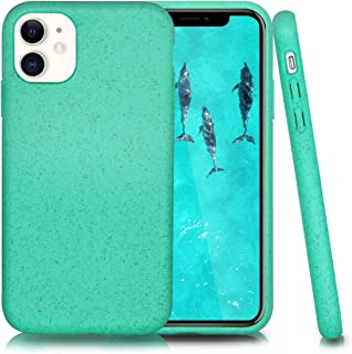 Biodegradable Phone Case for iPhone 11,6.1 Inches,Shock-Proof Yet Slim (Kelly Green)