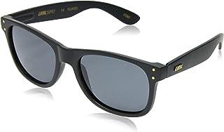 Local Supply Men's EVERYDAY Polarized Sunglasses - Dark Grey Tint Lens, Matte Black Frames