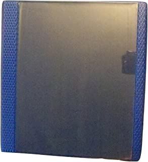 Carolina Pad Studio C 1 Inch Vinyl X-TRM Heavy Duty 3-Ring Binder with Pockets (Bold Blue, 11 Inches x 11.5 Inches x 2 Inches, View Front)
