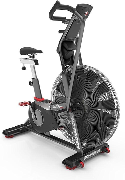 Bicicletta da fitness professionale con resistenza all`aria, console lcd con display watt schwinn airdyne ad8 100475
