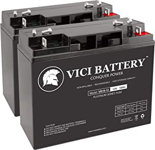 VICI Battery VB18-12 - 12V 18AH Replacement for Terminator ES-40 Electric Scooter Battery Set - 2 Pack