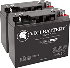 VICI Battery VB18-12 - 12V 18AH Replacement for Homelite UT13126 Lawn Mower Batteries - 2 Pack