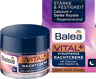 Balea Vital+ Rich Oil-Cream for Face - For Very Mature (Ages 50+ to 70+) and Very Dry Skin- with Camellia Oil, Shea Butter...
