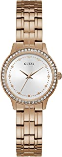 Guess Womens Quartz Watch, Analog Display and Stainless Steel Strap W1209L3
