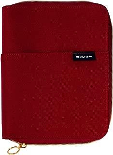 コクヨ ジブン手帳 mini 手帳アクセサリ ハードカバー ジッパー付き B6 スリム レッド ニ-JCCML1