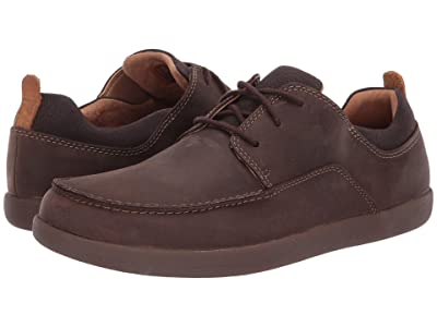 Clarks Un Lisbon Lace (Brown Leather/Canvas Combination) Men