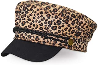 Vintage Woolen Leopard Print Casual Hat Women Cap Female Casual Baseball Hats Fashion Accessories Military