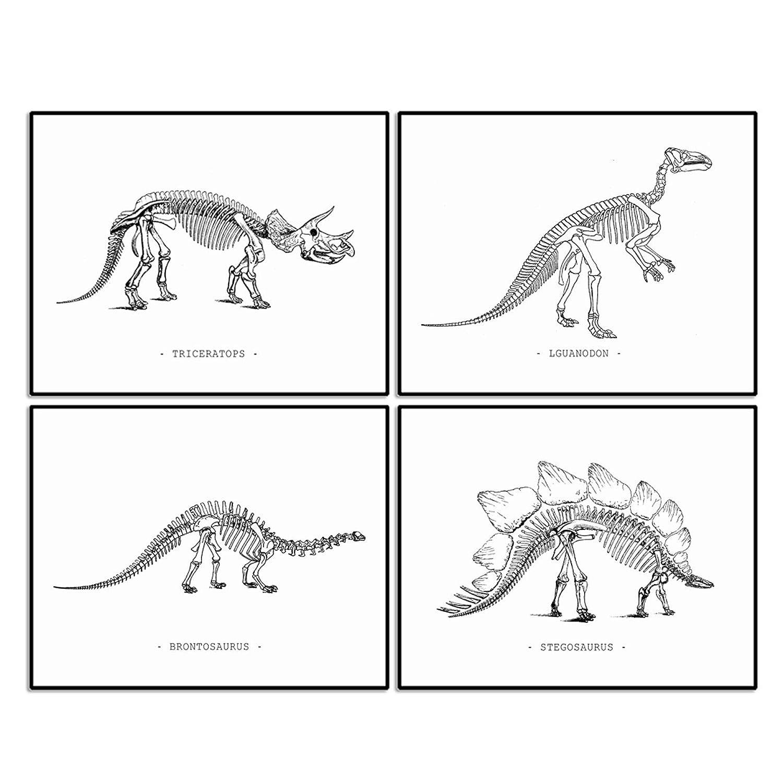 Dinosaur Mail order cheap Skeleton Art Print Kids Wall A Decor Room Arlington Mall