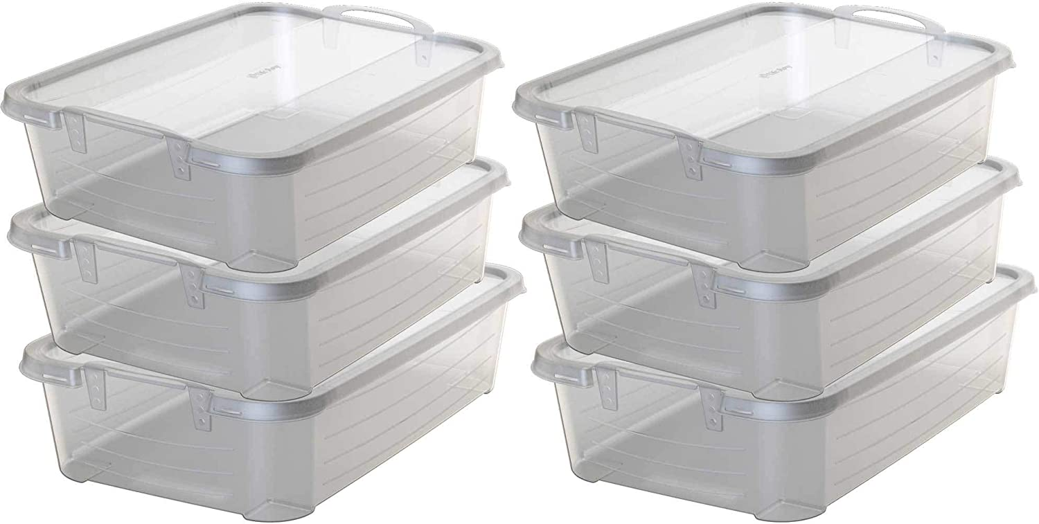 Life Story Clear Stackable Closet Ranking TOP15 Box 34 Max 49% OFF Quart Contain Storage
