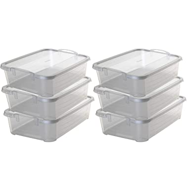 Life Story Clear Stackable Closet & Storage Box 34 Quart Containers, (6 Pack)