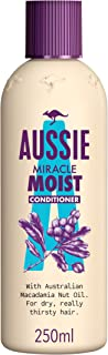 Aussie Miracle Moist Conditioner For Dry, Really Thirsty Hair, 250ml