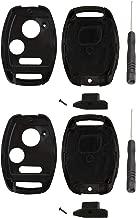 KeylessOption Keyless Entry Remote Key Blade Fob Shell Case Cover Repair for Honda Civic CR-V CR-Z Fit Odyssey + Screwdriver (Pack of 2)