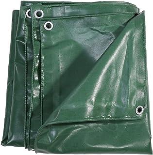 Lona de PVC Impermeable Lona de Protección Funda Protectora para Cubrir el Equipo, Verde (