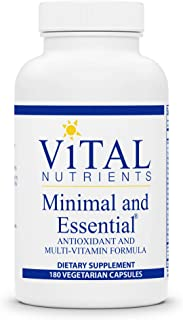 Vital Nutrients - Minimal and Essential - One a Day Multivitamin/Mineral and Antioxidant Formula - 180 Vegetarian Capsules