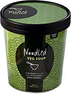 Noodled Vegetable - Natural Instant Noodle Soup 53g (343g Rehydrated) x 6 Vegan Gluten Free