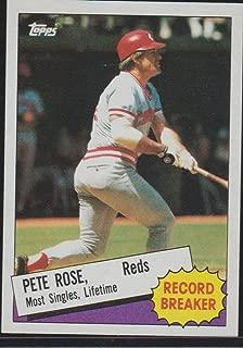 1986 Topps Pete Rose Reds Record Breaker Baseball Card #6