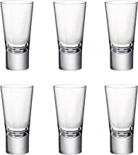 Bormioli Rocco 157110 Ypsilon Schnapsglas transparent Glas 12 St/ück 4c Shotglas 70 ml Stamper mit F/üllstrich bei 2cl