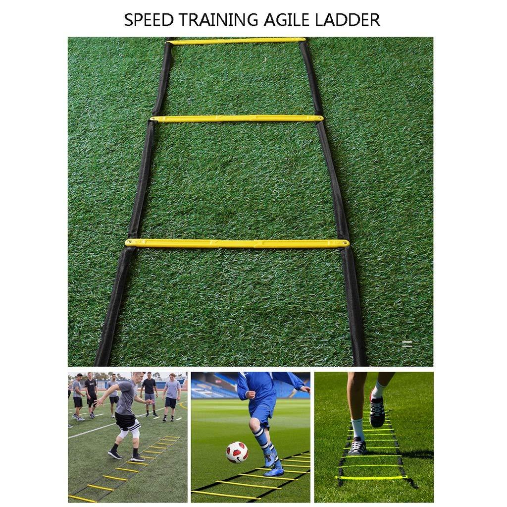 Xin Agilidad Fijo laddere - 8 escalones Velocidad Escalera, fútbol, Deportes, Ejercicio, Entrenamiento Footwork: Amazon.es: Deportes y aire libre