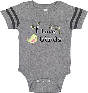 I Love Birds Green Infant Creeper
