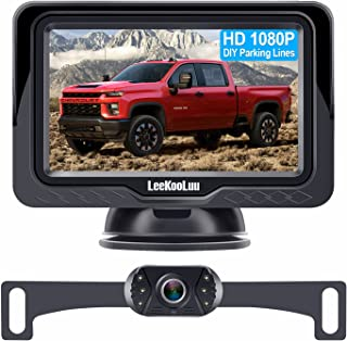 LeeKooLuu LK3 HD 1080P Backup Camera with Monitor Kit OEM Driving Hitch Rear/Front View Observation System for Cars,Truck...