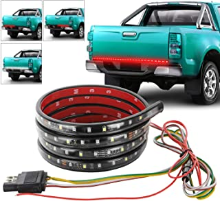 XTAUTO 60 Inch 90 LED Red White Truck Tailgate Strip Light Bar Waterproof Reverse Brake Turn Signal Strobe Lights for Pickup SUV Jeeps RV Dodge Ram Toyota Chevy GMC