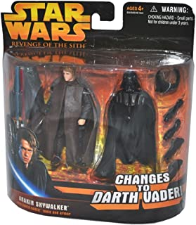 Star Wars Episode III 3 Revenge of the Sith ANAKIN SKYWALKER changes to DARTH VADER Deluxe Action Figure & Accessory Set