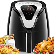 Air Fryer, Tidylife 8-in-1 Programmable Air Fryer with LCD Digital Touchscreen, 1500W Oilless Electric Hot Air Fryer, Auto Shut Off, Easy-to-Clean Nonstick Basket, 4.2 Qt, 50+ Recipes, BPA Free