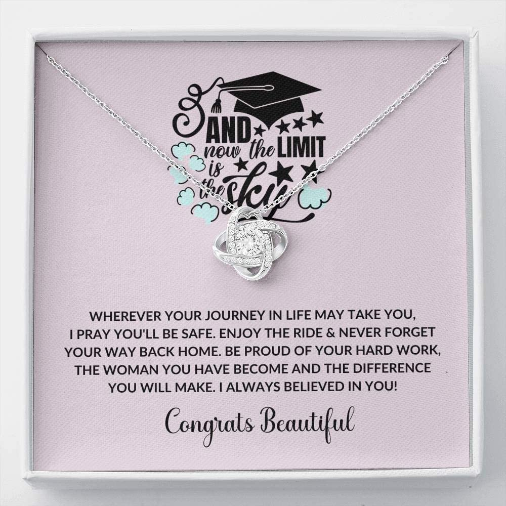 New York Mall Tek Weh Graduate - Wherever You are Necklace Knot Colle Love Dealing full price reduction