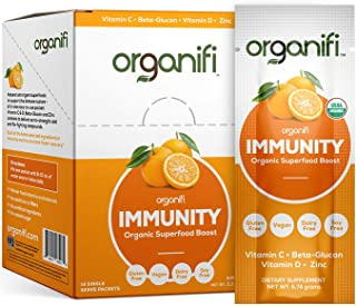 Organifi: Immunity - Organic Superfood Immunity Boost - 14 Single Serve Packets - Cold and Flu Relief - Nourish and Feed Cells - Natural Immune System Support - Vitamin C, D & Zinc